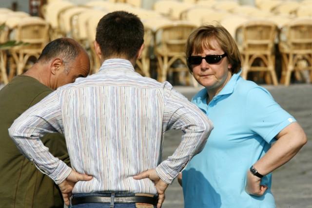 Angela Merkel im Urlaub