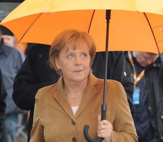 CDU-Bundestagswahlkampf - Merkel in Stralsund