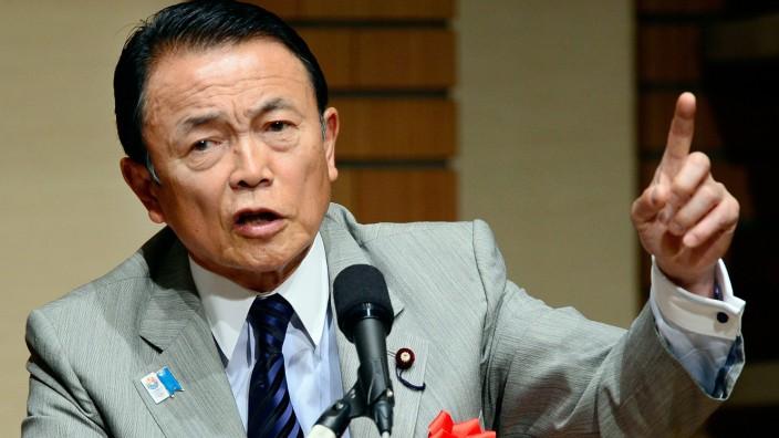 Japan Vize-Premier und Finanzminister Taro Aso Hitler Vergleich