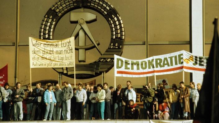Großdemonstration zur Reform der DDR, 1989