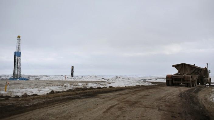 Fracking in Williston in North Dakota
