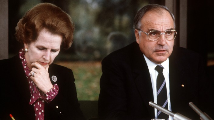 Margaret Thatcher 1982 bei Helmut Kohl in Bonn