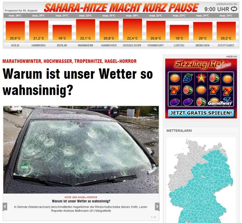 Wetter Sommer 2013 Hitze Flutkatastrophe