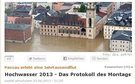 Hochwasserkatastrophe Sommer 2013