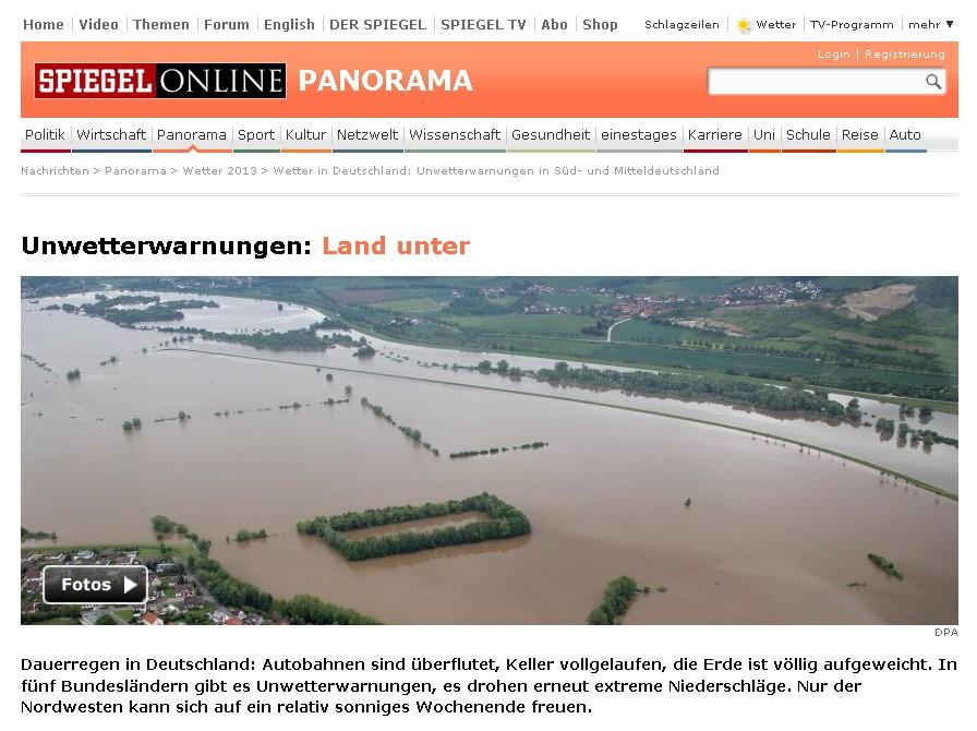 Hochwasserkatastrophe im Sommer 2013