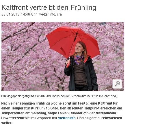 Wetter 2013 Frühling