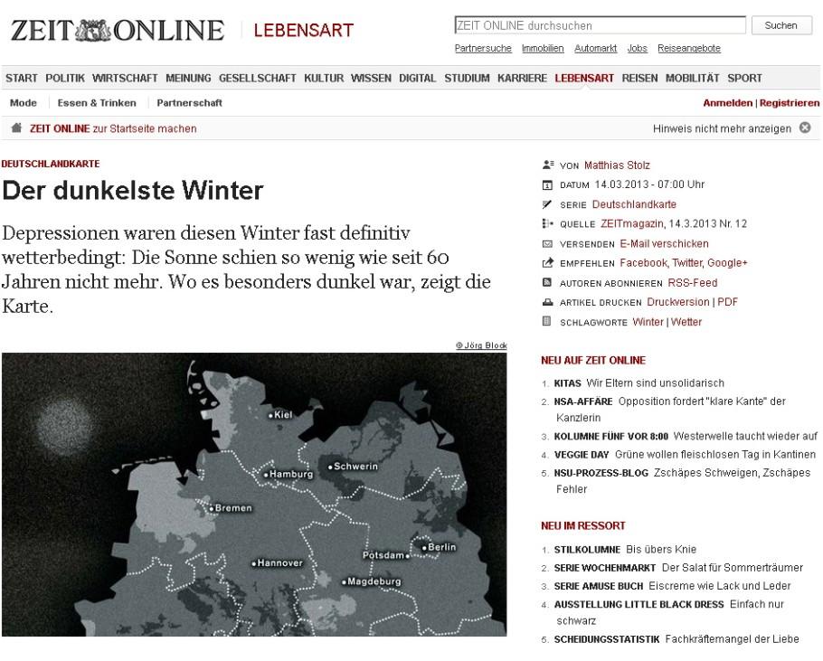 Wetter 2013 Winter