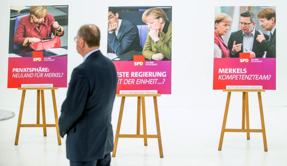Bundestagswahl SPD 22. September Wahlkampf Wahlplakate