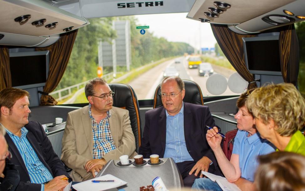 Steinbrück auf Wahlkampfreise