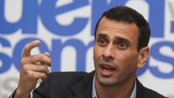 Oppositionsführer Henrique Capriles