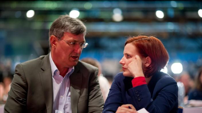 Die Linke-Vorsitzenden Bernd Riexinger und Katja Kipping auf einem Parteitreffen in Göttingen.