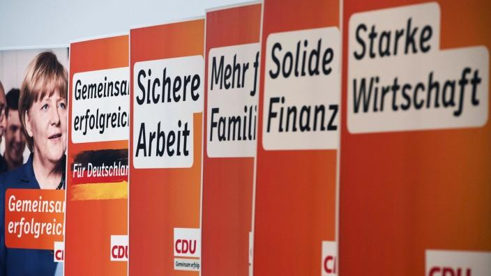 Wahlkampf: Die EU spielt auf den Wahlplakaten bei allen Parteienkaum eine Rolle
