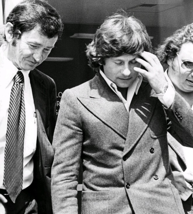Director Roman Polanski exits the Santa Monica Courthouse after a May 20, 1977 court appearance