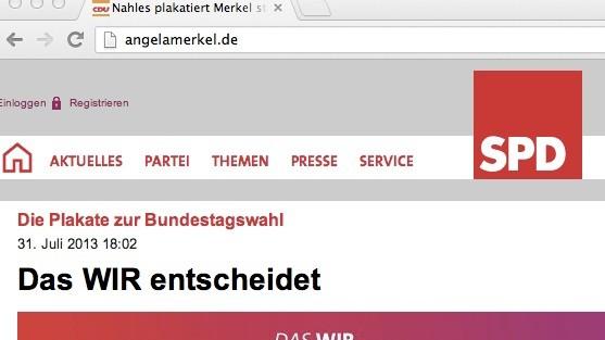 angelamerkel.de Merkel Website SPD