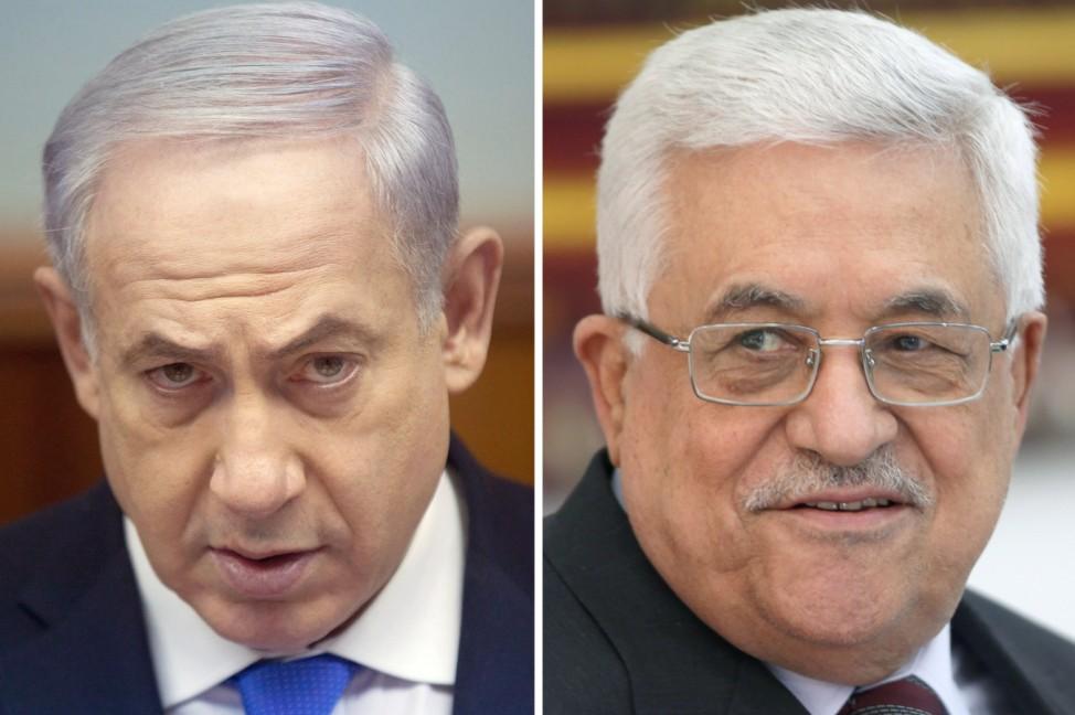 Benjamin Netanjahu und Mahmud Abbas