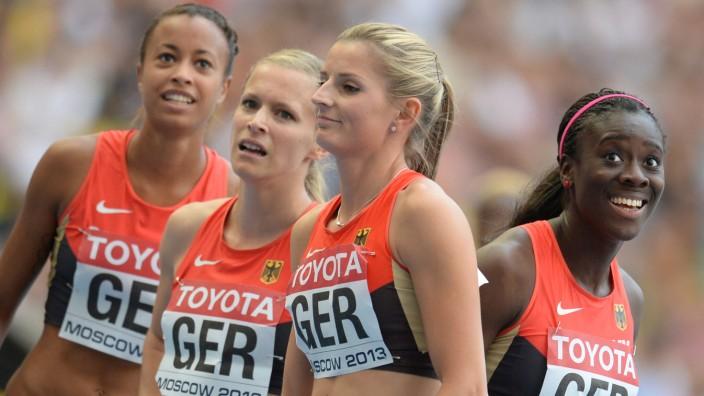 Deutsche Frauen Staffel auf Platz fünf Sport