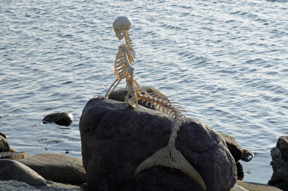 Die kleine Meerjungfrau zum 1. April von Skelett ersetzt