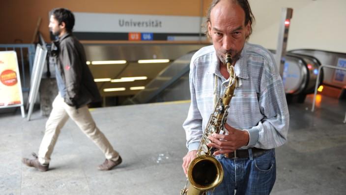 Straßenmusiker in München