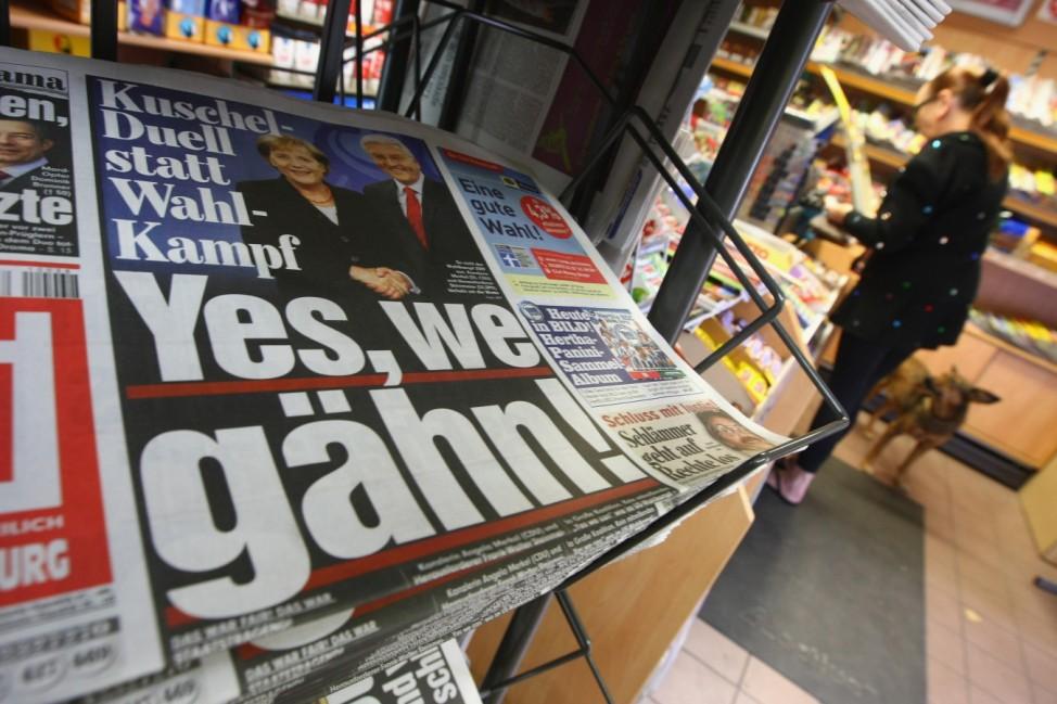 Merkel And Steinmeier Face Off In TV Debate