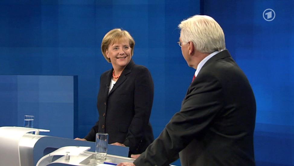 TV-Duell Merkel - Steinmeier