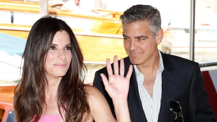 Sandra Bullock und George Clooney beim Filmfestival Venedig 2013