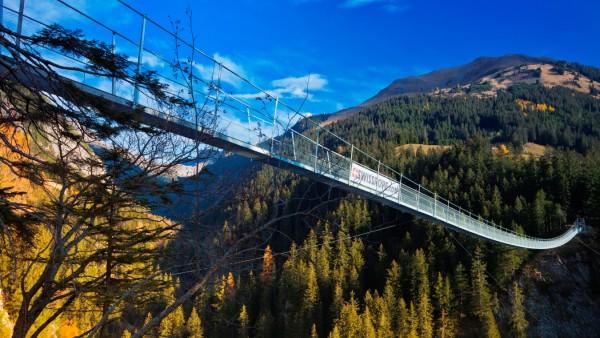 Hängebrücke bei Holzgau Lechtal Österreich