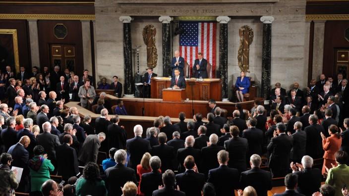 Präsident Obama spricht im Kongress