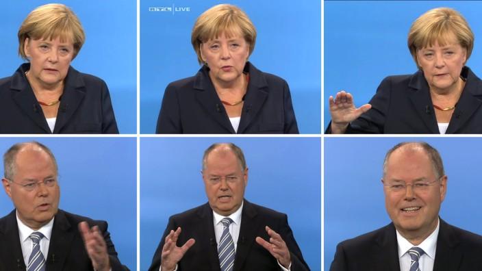 TV-Duell Angela Merkel und Peer Steinbrück