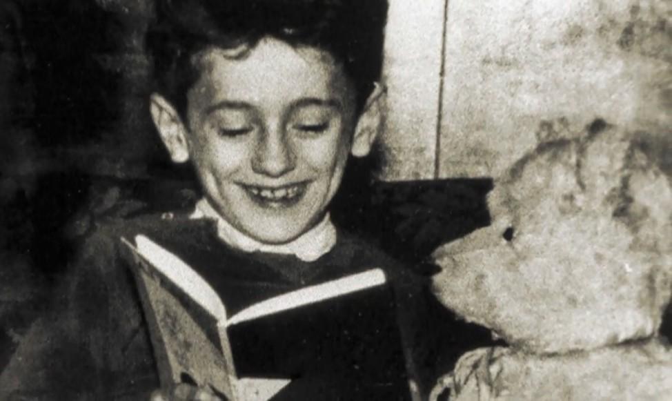 Alte Bilder von Ude Kindheit, junger Mann, Teddy