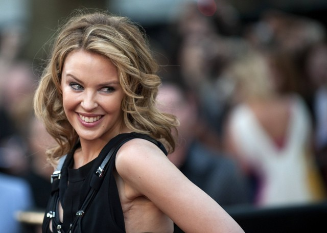 Australian singer Kylie Minogue poses for photographers at the premiere of  'Sex in the City 2' in Leicester Square, London