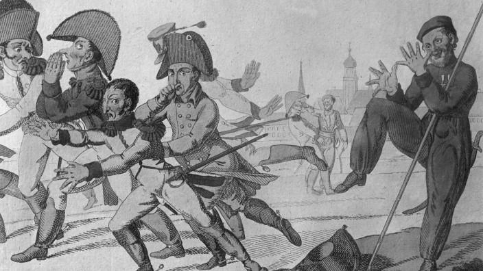 Flucht Napoleons nach der Völkerschlacht bei Leizig, 1813