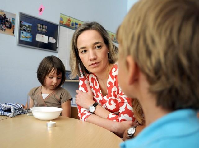 Ministerin Schröder besucht Kindergarten