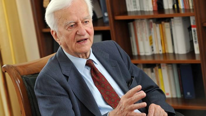 Alt-Bundespräsident Weizsäcker: Der ehemalige Bundespräsident Richard von Weizsäcker