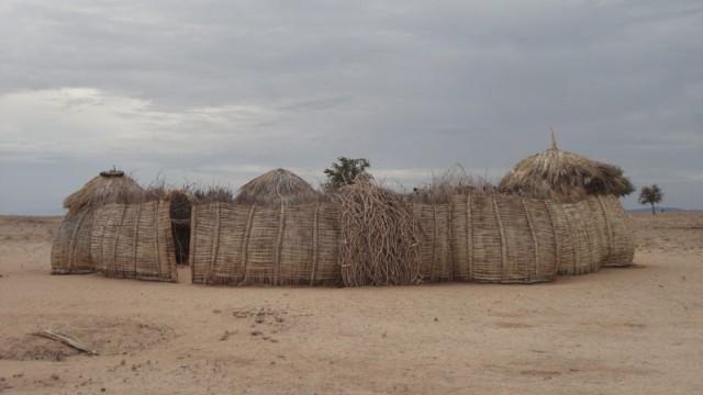 Eine für die Turkana-Region typische Behausung