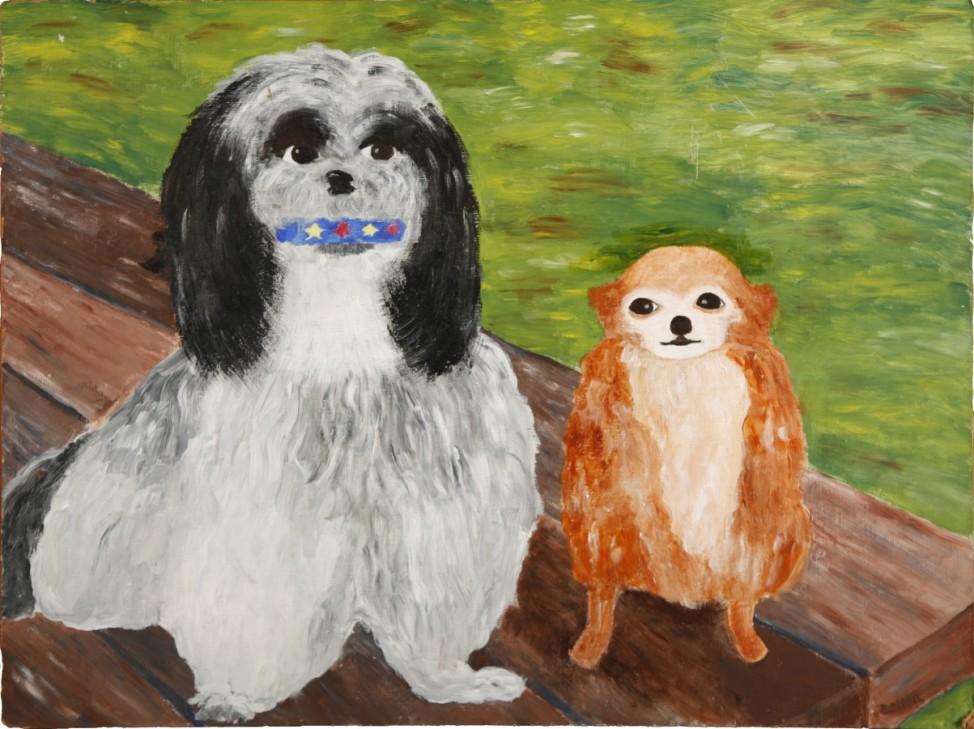 Museum of Bad Art - Charlie and Sheba