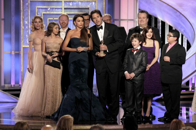 Cast von Modern Family bei den Golden Globe Awards 2012