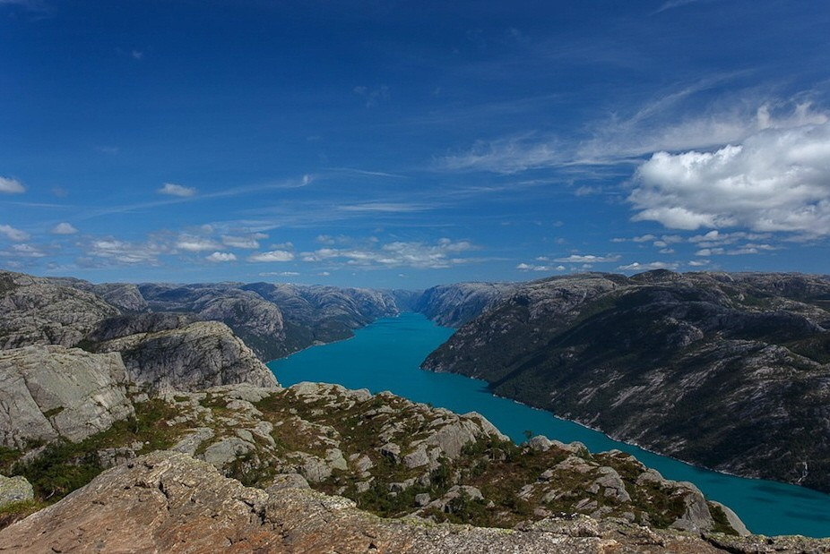 Leserfoto Panorama Norwegen Lysefjord