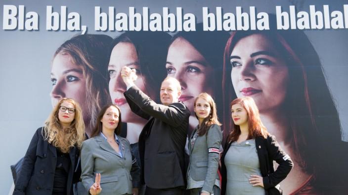 Plakataktion Die Partei