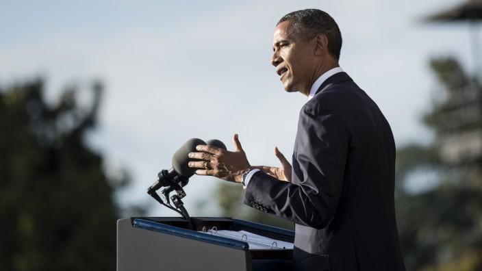 Barack Obama in den Marine Barracks