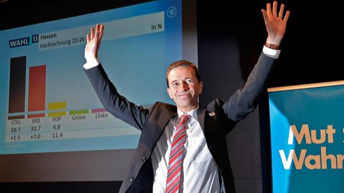 Alternative für Deutschland: Spitzenkandidat Bernd Lucke am gestrigen Wahlabend
