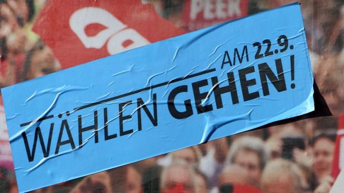 Werbung für Bundestagswahl