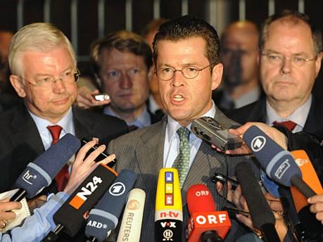 Koch, Guttenberg, Steinbrück, Foto: dpa