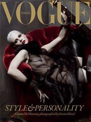 Vogue, Cover, Italien, Kristen McMenamy, Screenshot: www.style.it