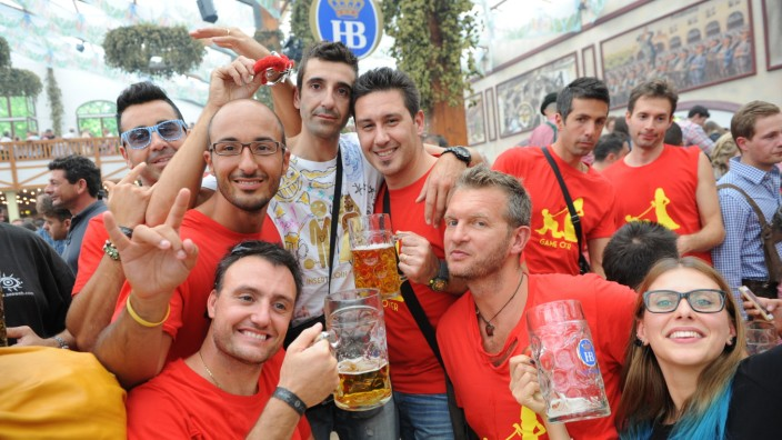 Italiener auf dem Oktoberfest