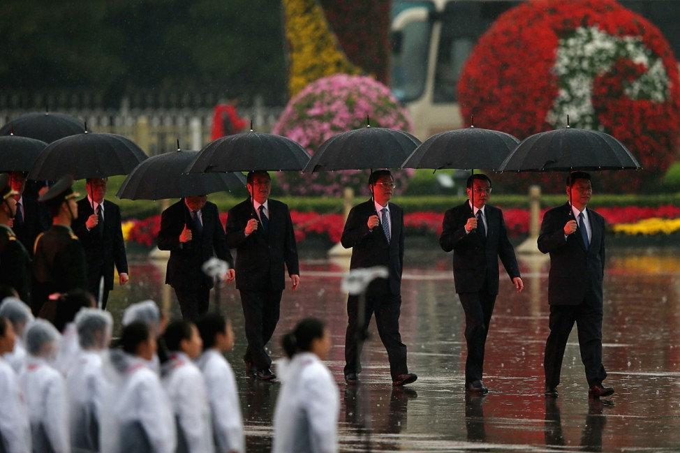 Chinese Leaders Attend Flower-basket-laying Ceremony To Mark The 64th National Day