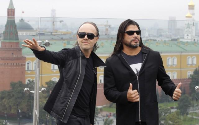 Ulrich und Trujillo von Metallica
