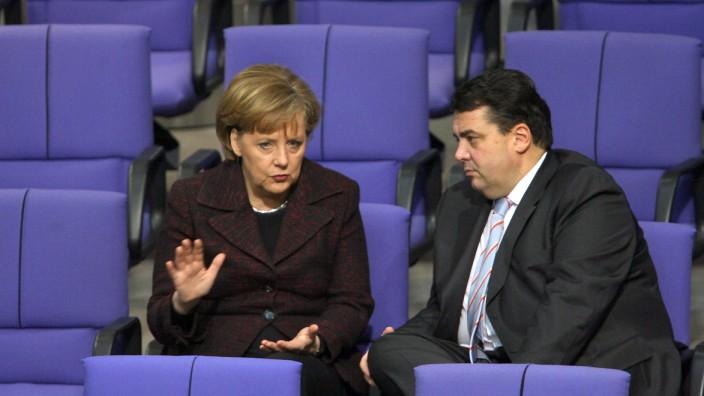 Angela Merkel (CDU) und Sigmar Gabriel (SPD)