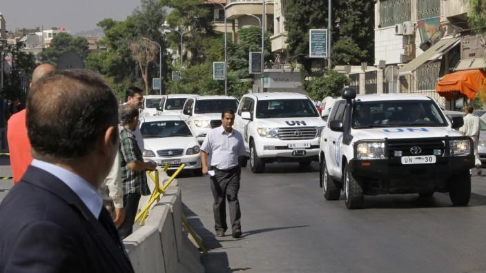 Massenvernichtungswaffen in Nahost: Chemiewaffenexperten der UN in Damaskus Ende September
