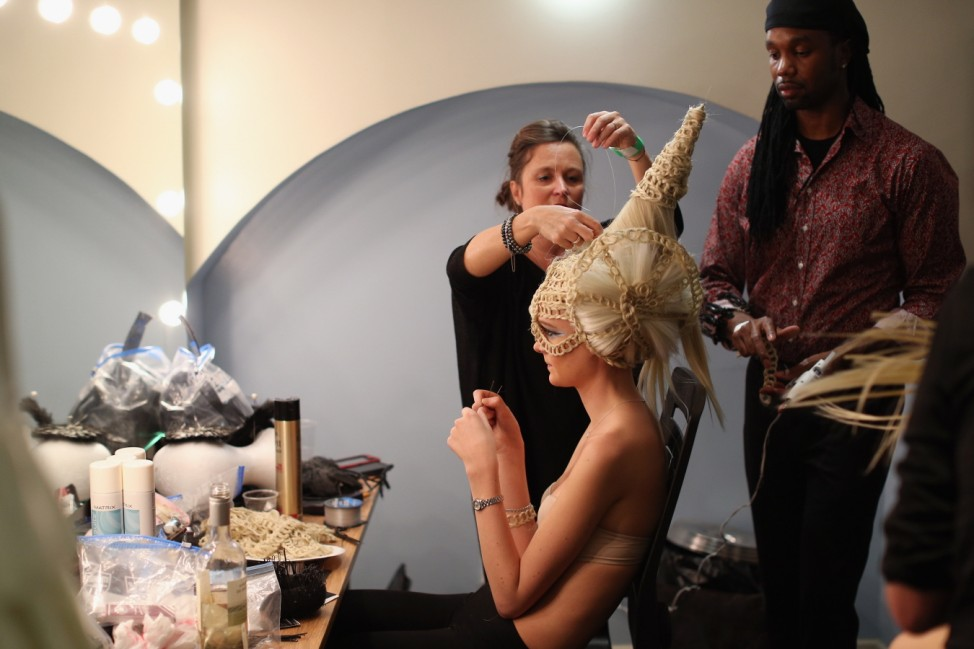 Extravagant Hair Styles Take To The Catwalk At The Alternative Hair Show