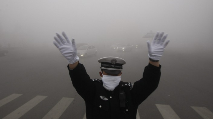 Heavy fog shrouded northeastern China.